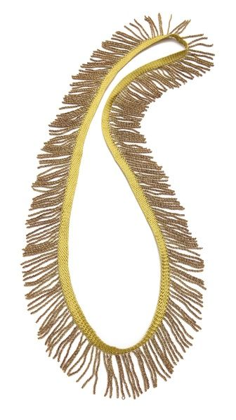 Fringed necklace--wear long, or double into 2 strands. So neat.
