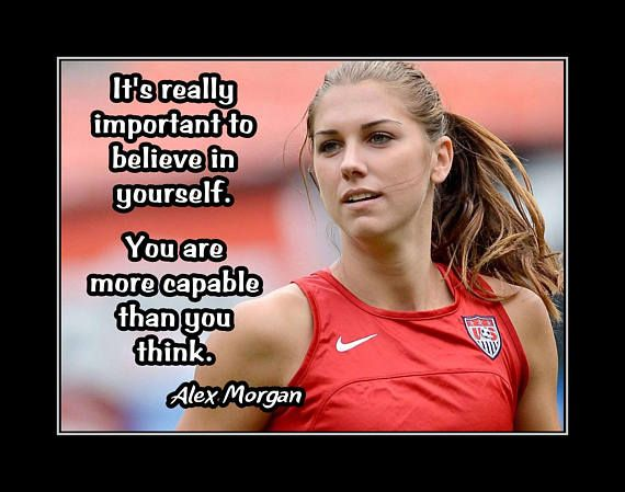 Inspirational Soccer Motivation Quote Wall Art, Daughter Best Friend Birthday Gift, Alex Morgan Poster, Champion Photo Wall Decor