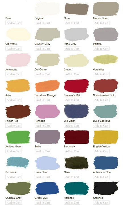 Annie Sloan Chalk Paint Colours, tester sizes also available in Moss Cottage, Dundrum
