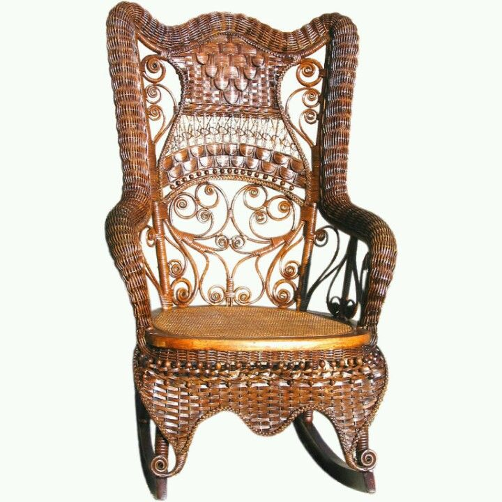 Marvelous Victorian Wicker Rocking Chair