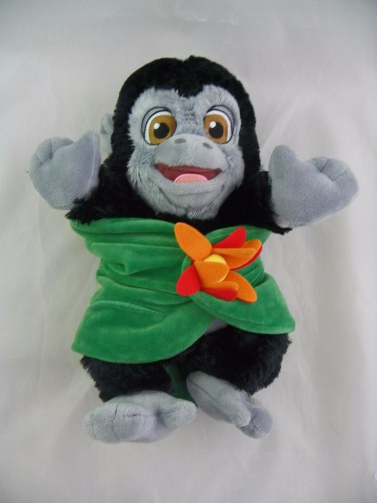 Disney Babies Baby Gorilla Plush w/Blanket Tarzan Turk Flower Disney Parks #Disney