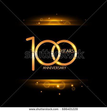 100 years golden anniversary celebration logo