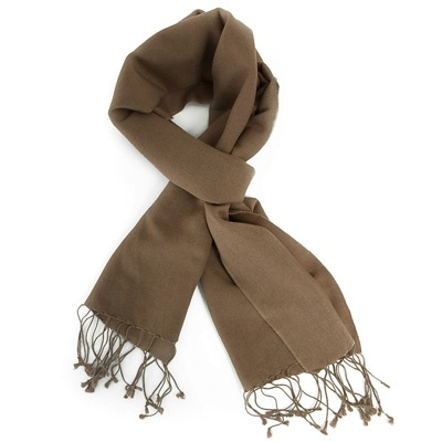 Cappuccino Brown Pashmina by ColorMeSocks™