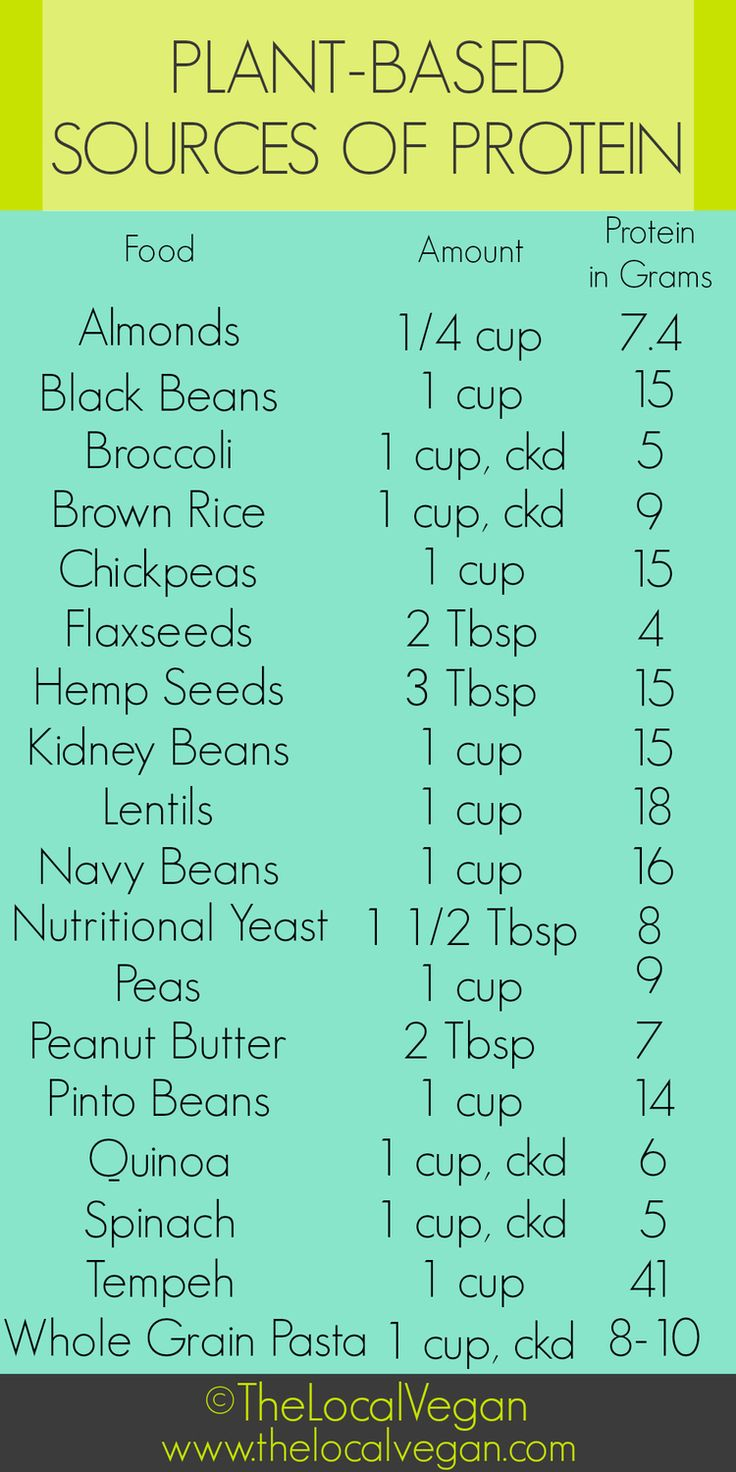 TheLocal Vegan - Plant-Based Protein Source Chart
