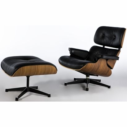 Classic Plywood Lounge Chair & Ottoman - Click to enlarge