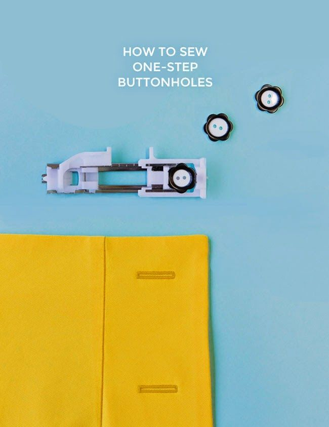 How to sew one-step buttonholes