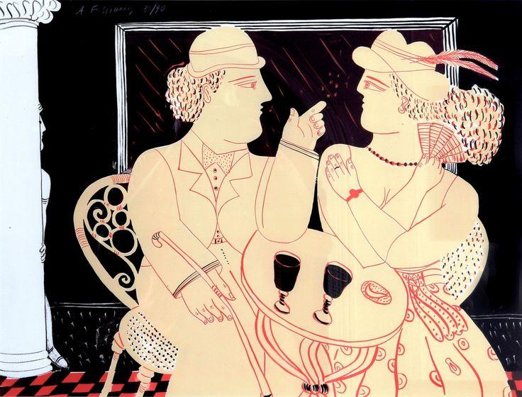 Alekos Fassianos /Αλέκος Φασιανός, 1935 | Expressionist painter | Tutt'Art@ | Pittura • Scultura • Poesia • Musica