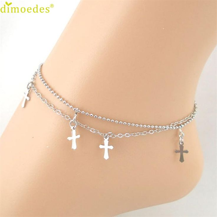 Diomedes Gussy Life 8 Wholesale Double-strand Cross Women Chain Anklet Bracelet Sandal Beach Foot Jewelry Jan11 //Price: $US $0.71 & FREE Shipping //     #hashtag3