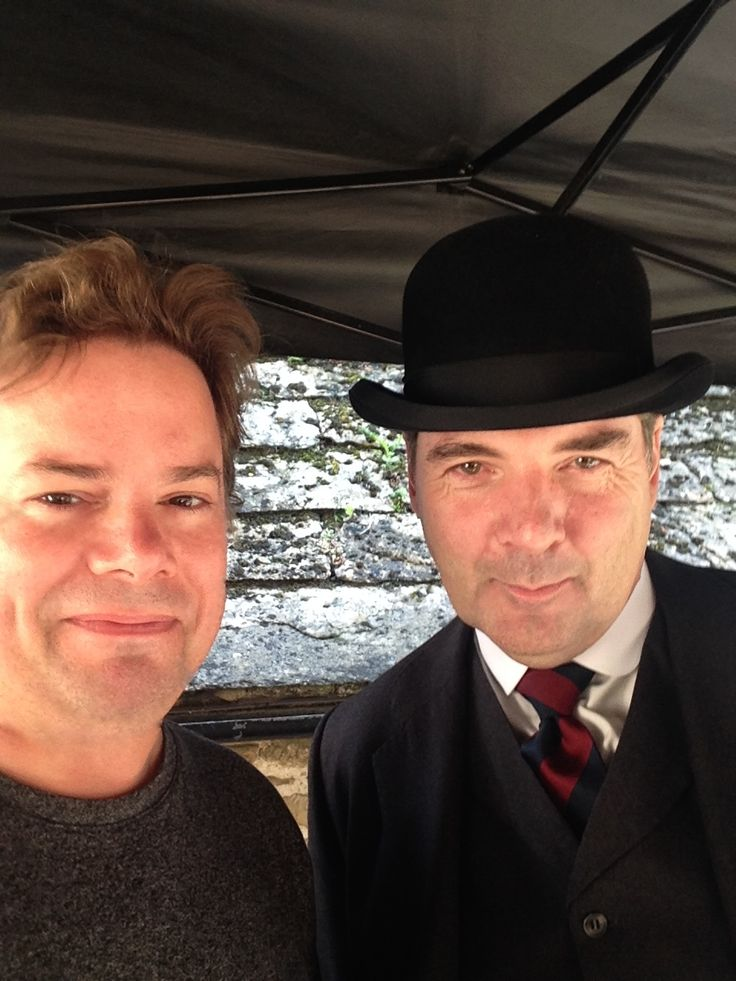 Downton Downstairs .. Brendan Coyle. Bampton. August 2014. (w/ Flying Purple Pig Tours guide)..