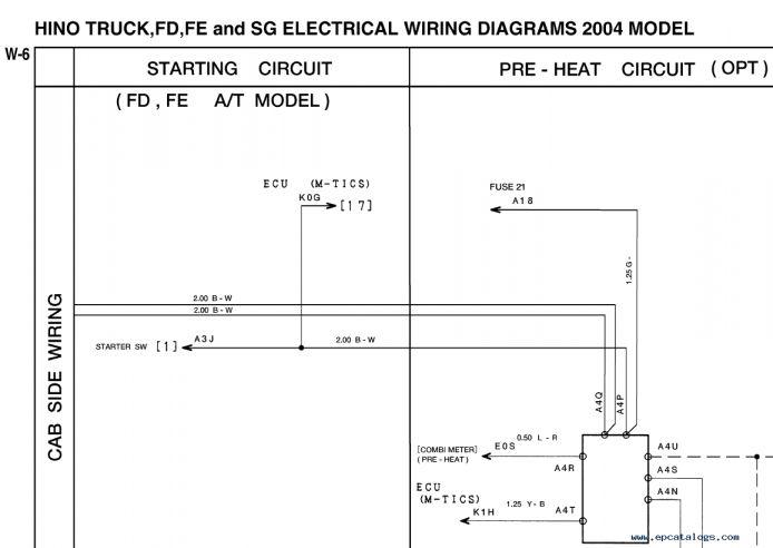 12  2004 Hino Truck Data Link Diagram