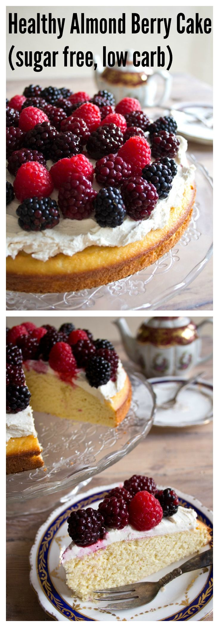 All Food and Drink: Healthy Almond Berry Cake – Sugar Free Londoner