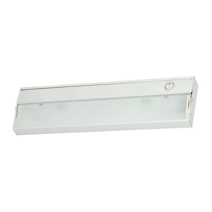 Alico Zeeline 1 Lamp Xenon Cabinet Light In White With Diffused Glass