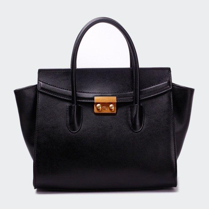 Купить товарВерхний роскошь женщины logo дизайнерские сумки натуральная кожа мешок трапеции сумки крупные бренды в категории Сумки с короткими ручкамина AliExpress.