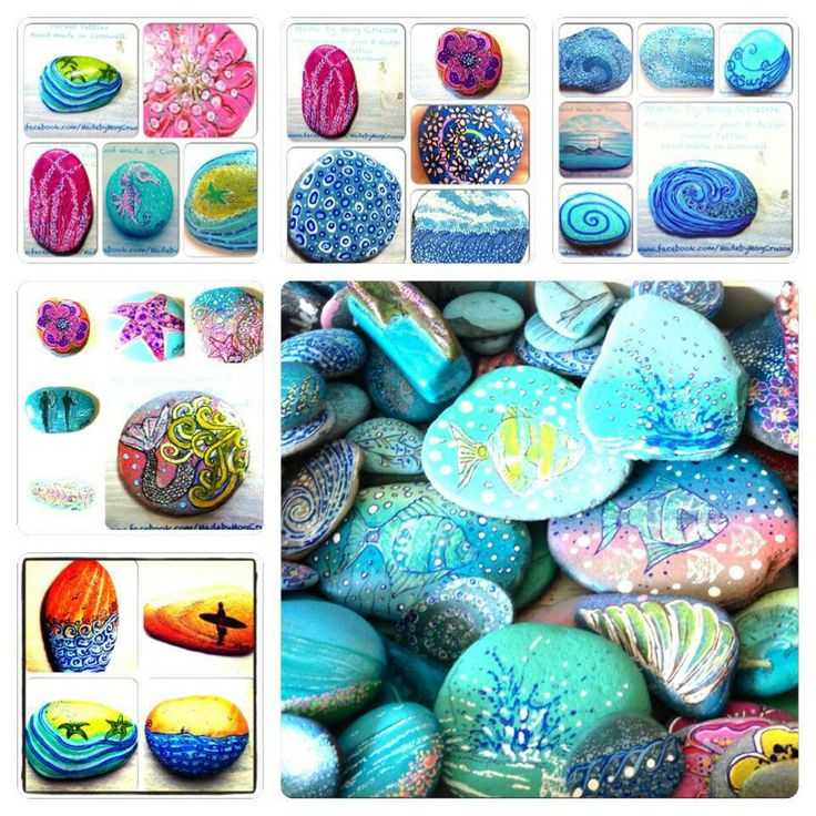 Pretty Painted Pebbles ♡