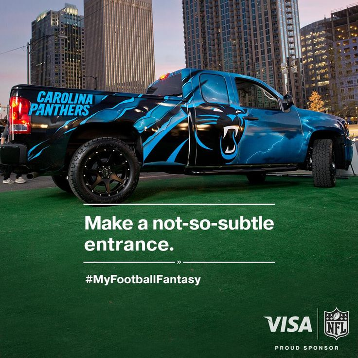 "Twitter / Visa: ""The ultimate @Josh Lam Lam Swafford fantasy #sponsorship GMC Carolina Panthers custom truck"