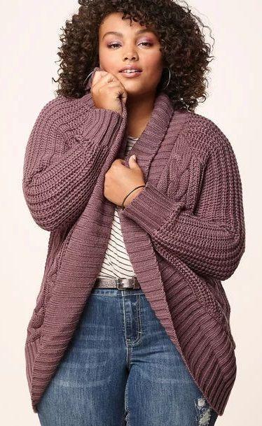 Plus Size Cocoon Cardigan - Plus Size Fashion for Women #plussize