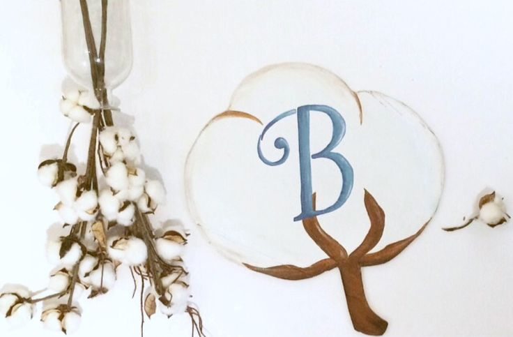Personalized Cotton Sign, Monogramed Farmhouse Cottage Sign, Rustic Door Hanger, Southern Sign by Khicktiques on Etsy https://www.etsy.com/listing/534434444/personalized-cotton-sign-monogramed