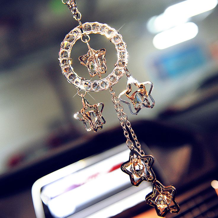 Car Charm Ornaments Bling Lucky Crystal Charms For