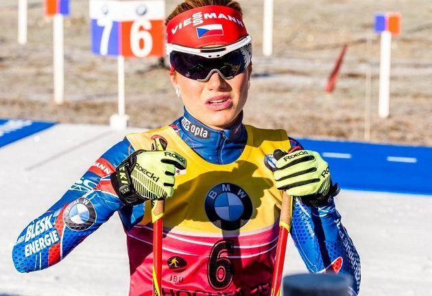 Gabriela Soukalová udržela žlutý dres vedoucí ženy Světového poháru.