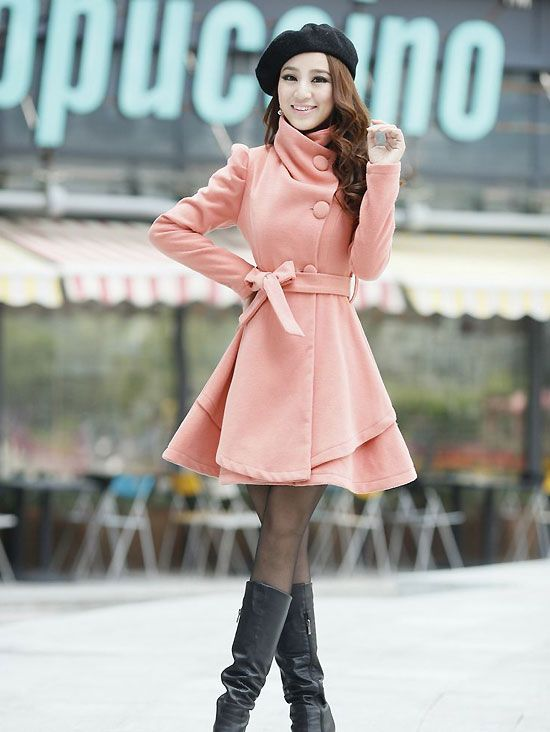 Women's Special Design Wide Turn Down Collar Puff Sleeve ...