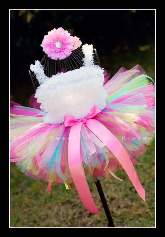 Sweetie Pie Birthday Tutu - Custom Tutu Great for Girls Dance 1st Birthdays Photos Pink Dress up, Beautiful Tutu