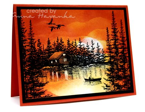 Sunset Canoe by annascreations - Cards and Paper Crafts at Splitcoaststampers