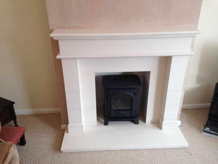 Limestone fireplace with gazco stove fitted by colesforfires.co.uk