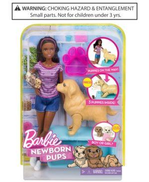 Mattel's Barbie Newborn Pups Doll & Pets