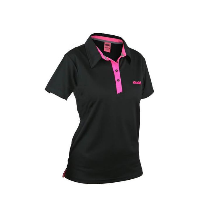 Ladies Disc Golf Apparel - Ladies Pro Polo Take your play to the next level with this super stylish Pro Polo, combining ease of movement with fashion. Flip the collar for sun protection and sling your backpack onto the specially designed rubberized shoulder grips. Not just a men's shirt in another colour - the cut is slimmer to fit your body. For more details, visit https://www.dudeclothing.com/collections/ladies/products/ladies-pro-polo-1?variant=3495589957 now.
