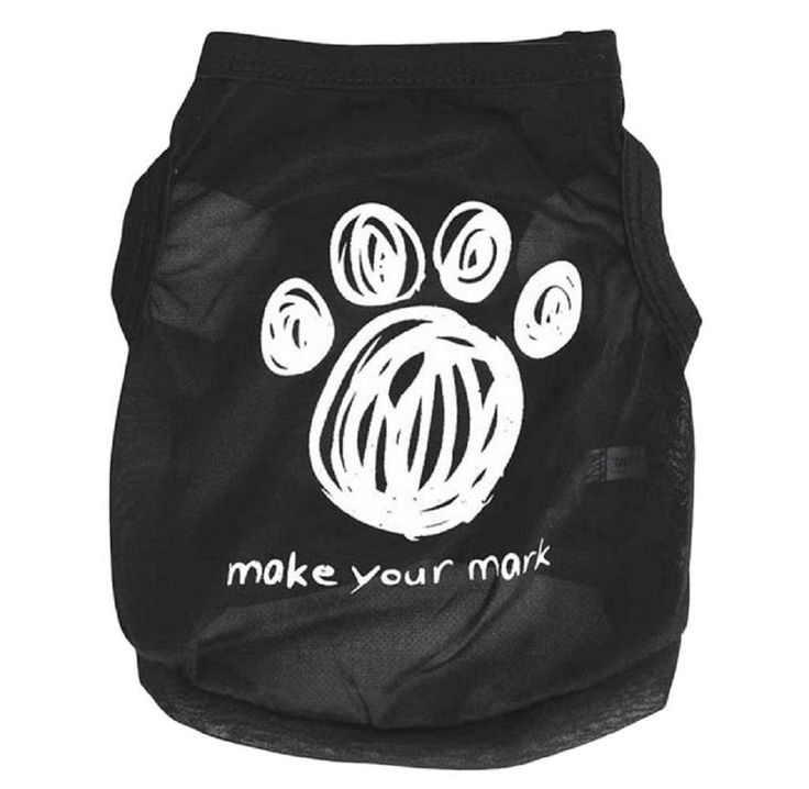 LOVELYIVA HOT Dog Footprints Pet Clothes Vest Sleeveless Dog T-Shirts Apparel ** More info could be found at the image url. (This is an affiliate link and I receive a commission for the sales)