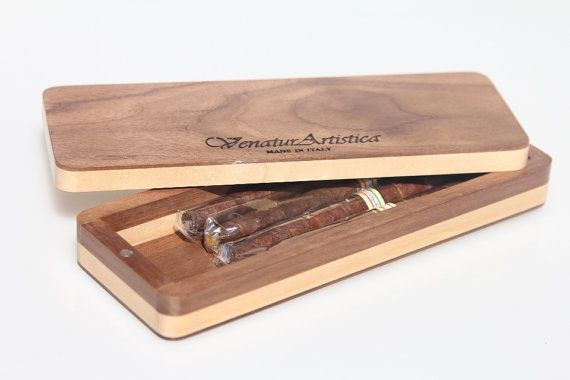 Wooden case  Case  Cigars holder  Wood cigar di VenaturArtistica