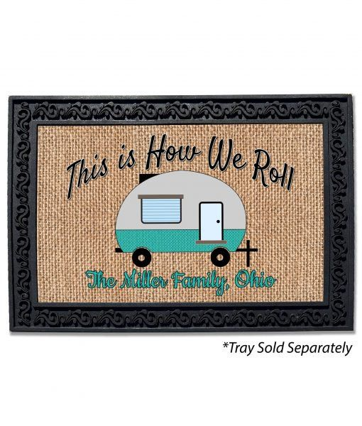 Happy Door Personalized Mats Campers