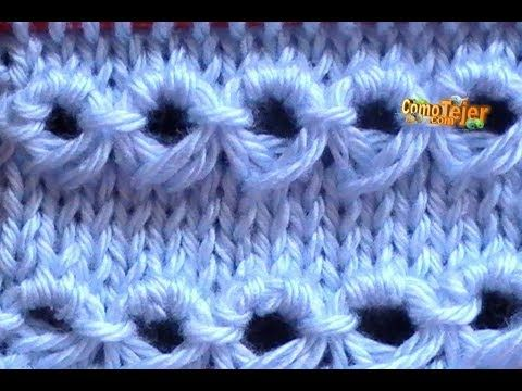 Cómo Tejer Punto PERUANO-Broomstick Loop Stitch - 2 Agujas (120) - YouTube