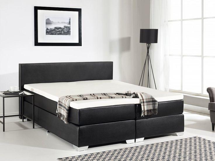 Elegance and utter comfort – a leather box spring bed. Check Beliani UK for more design inspirations www.beliani.co.uk. #beliani #bed #dreambedroom #leatherbed #moderninteriordesign #bedroom #homedecor #design #furniture