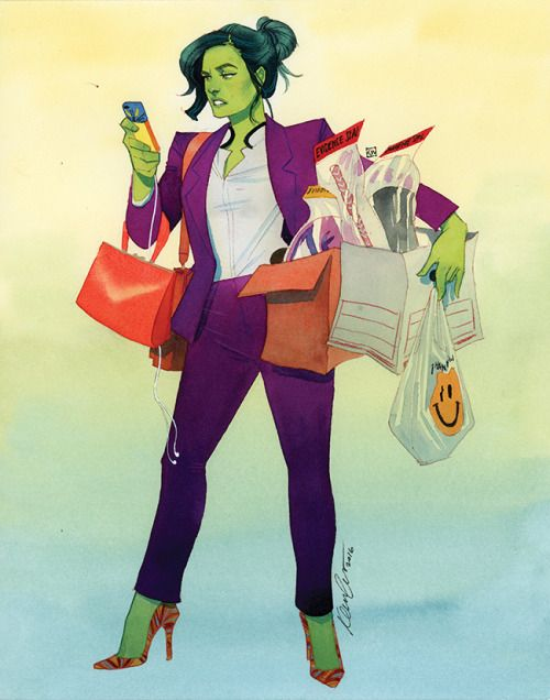 She-Hulk Doing Some Grocery Shopping - Kevin Wada