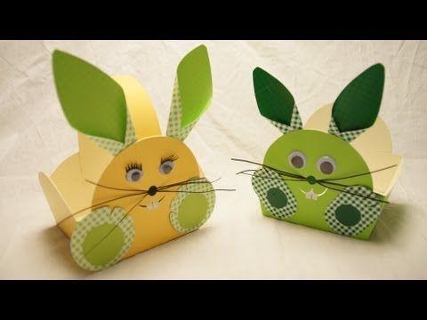 Basteln zu Ostern: Osterkorb, Osterhase basteln... How to make an Easter Bunny Egg Basket