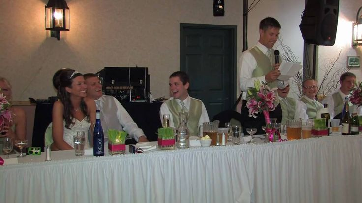 Funny wedding toast by Jeremy (Brother of the bride) at Amanda and Jim's...