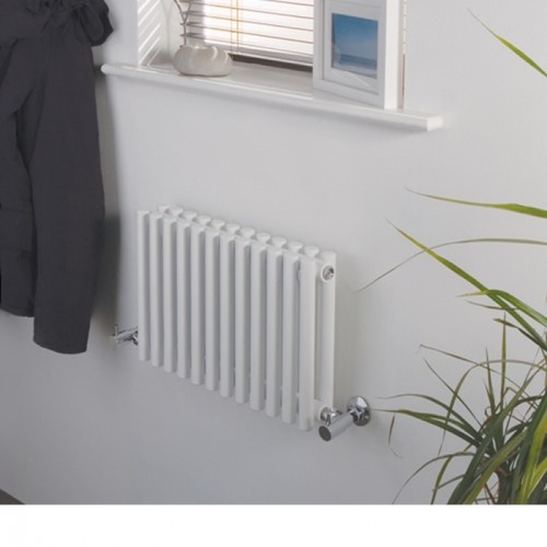 This 300mm x 456mm Milano White Horizontal Designer Double radiator is so compact, it can be fitted almost anywhere.