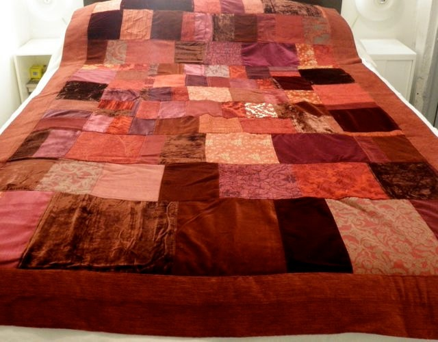 Sofa Orange Reserved For Louise - Please Don't Buy... Patchwork Quilt