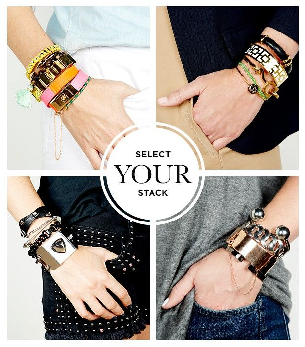 here is a good beginner's class .....  http://www.whowhatwear.com/how-to-wear-stacked-bracelets