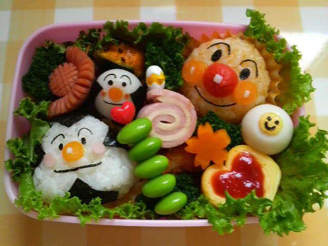 キャラ弁 アンパンマンとおむすびまん レシピ アンパンマン お弁当 キャラ弁 アンパンマン 幼稚園 お弁当