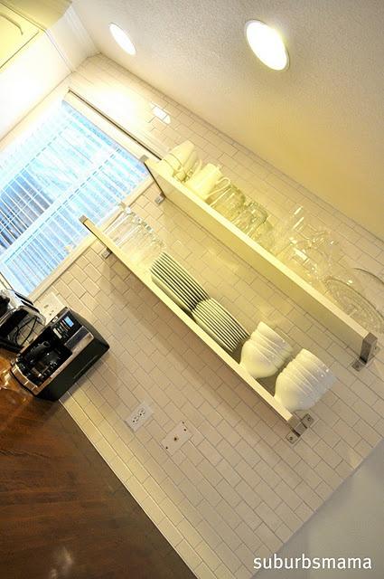Exposed Shelves Tile Need Home Decor Love