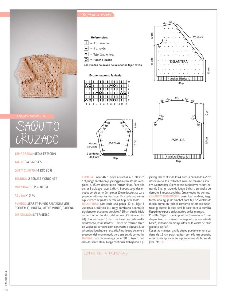RECEITA TRICÔ FÁCIL: Nube Bebê-Revista Tricô em Espanhol