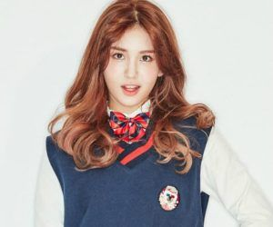 """I.O.I's Somi """"Dream Girl"""" promotional picture."""
