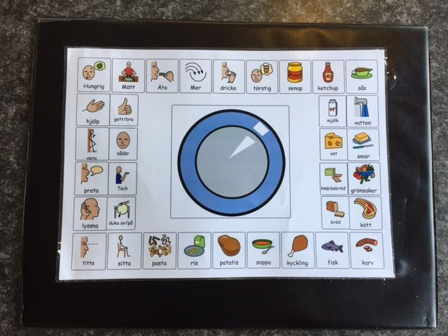 Bildstöd till barn med språkliga svårigheter - matsituationen