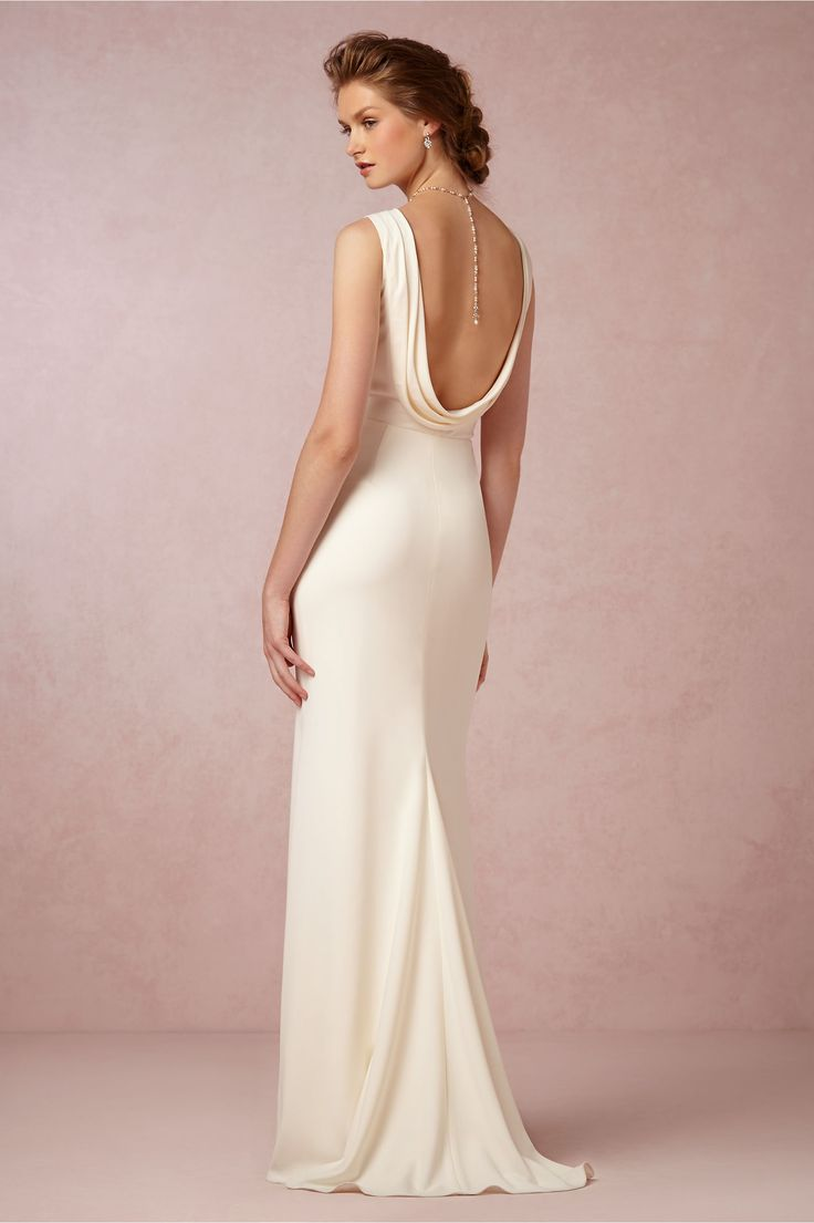 This stunning dress is a perfect 1930s style wedding gown for a vintage-minded bride. It's a BHLDN exclusive from Badgley Mischka, and a wonderfully elegant