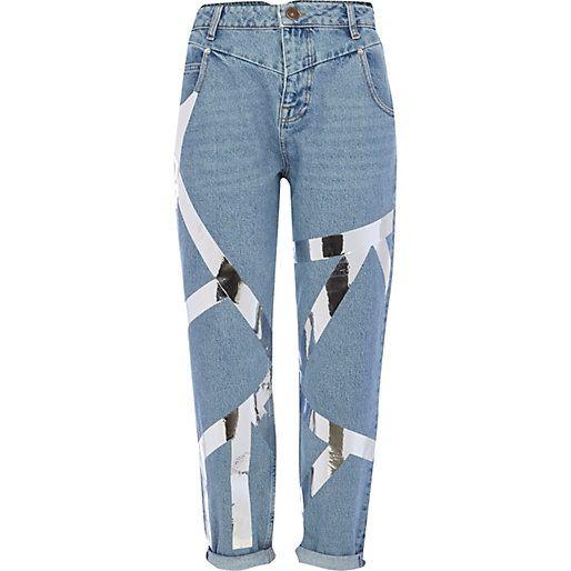 River Island Badges Jeans Women