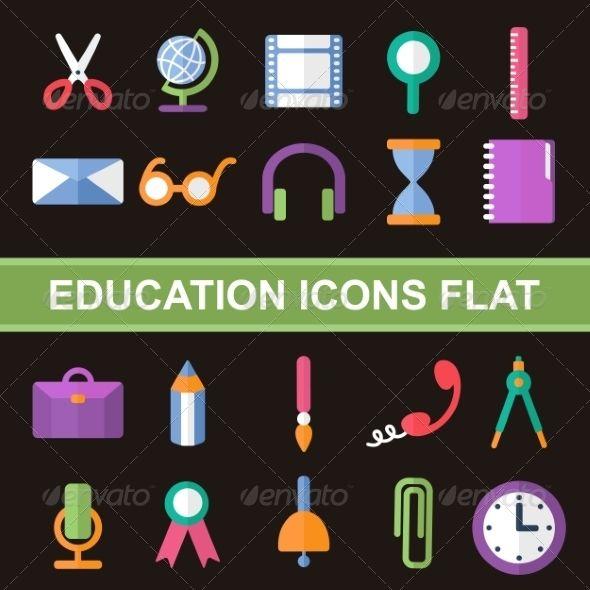 Flat Icons - Web Elements Vectors