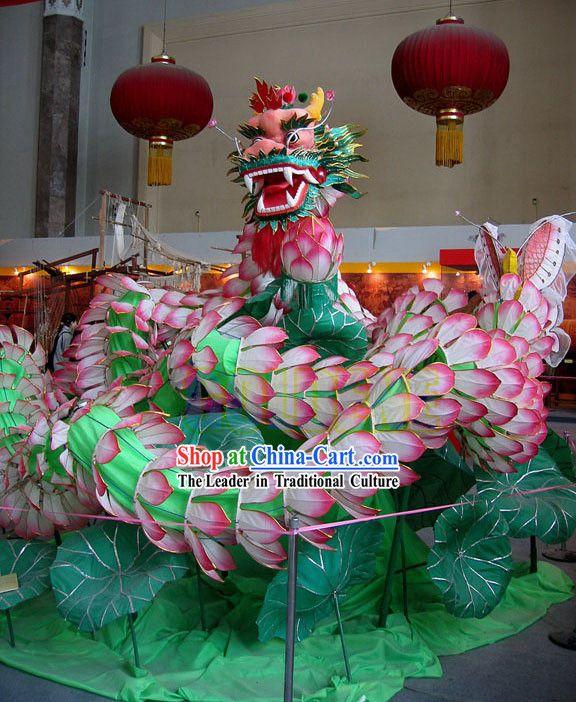 Classic Traditional Lotus Dragon Dance Costume Complete Set