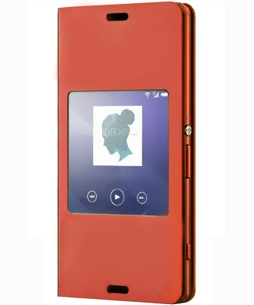 Sony Xperia Z3 Compact Smart Style-Up Cover - Oranje